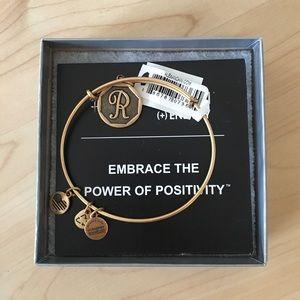 Alex and Ani R initial bracelet